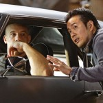 Vin Diesel and director Justin Lin on set of Fast & Furious 6
