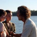Tye Sheridan, Jacob Lofland and Matthew McConaughey in the movie Mud