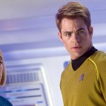 Alice Eve as Dr Carol Marcus and Chris Pine as Captain James T Kirk in Star Trek Into Darkness