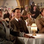 Actors Amitabh Bachchan, Tobey Maguire and Leonardo DiCaprio in The Great Gatsby