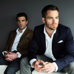 Hot Actors Zachary Quinto and Chris Pine pose at a Sydney hotel ahead of the premiere of their movie Star Trek Into Darkness