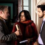 Haluk Bilginer, director Mira Nair and Riz Ahmed in The Reluctant Fundamentalist