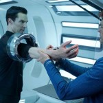 Dr 'Bones' McCoy (Karl Urban) takes a blood sample of the new prisoner. But why? In Star Trek Into Darkness