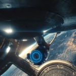 Enterprise NCC 1701 leaves space dock in search of strange new worlds in Star Trek Into Darkness