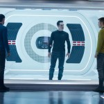 Spock, Harrison and Kirk in the brig in Star Trek Into Darkness
