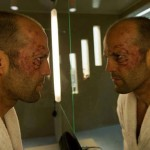 He looks that way in every movie. Jason Statham in Hummingbird