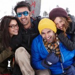 The cast of Yeh Jawaani Hai Deewani: Deepika Padukone, Ranbir Kapoor, Aditya Roy Kapur and Kalki Koechlin