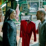 You'll look so much prettier in this, especially next to all this raw meat. Jason Statham and Agata Buzek in Hummingbird