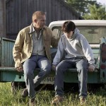Kevin Costner with a young Clark Kent (Superman's human alter ego) in Man of Steel