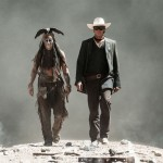 Johnny Depp as Tonto and Armie Hammer as The Lone Ranger