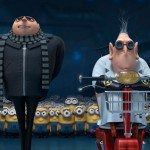 Gru (Steve Carell) and Dr Nefario (Russell Brand) in Despicable Me 2