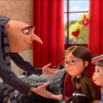 Gru and the kids in Despicable Me 2