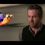 Ryan Reynolds as the voice of Turbo in the film