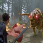 A strange mechanical bull from out of Transformers seems out of place in Percy Jackson: Sea of Monsters