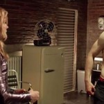 Chloë Grace Moretz and Aaron Taylor-Johnson (who surprises us with quite a toned physique) in Kick-Ass 2
