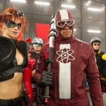Night Bitch (Lindy Booth) and Dr. Gravity (Donal Faison) in Kick-Ass 2