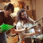 Ashton Kutcher and Josh Gad as Steve Jobs and Steve Wozniak in JOBS