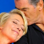 Emma Thompson and Pierce Brosnan at the press conference for The Love Punch