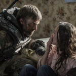Sharlto Copley and Alice Braga in Elysium