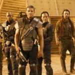 Johns played by Matt Nable (centre) and his crew in Riddick