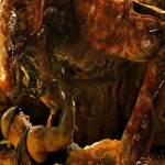 Riddick battles the 'alien-like' indigenous creature