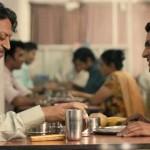 Irrfan Khan and Nawazuddin Siddiqui sharing in The Lunchbox