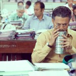 Irrfan Khan takes a sniff in The Lunchbox