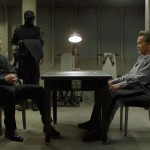 Jim Caviezel and Arnold Schwarzenegger in Escape Plan