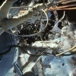 Destruction in space in the movie Gravity