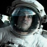 George Clooney as Matt Kowalski in the movie Gravity