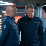 Ben Kingsley, Harrison Ford and Asa Butterfield in Ender's Game the movie