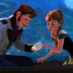 Prince Hans and Princess Anna are in love at first sight in Frozen