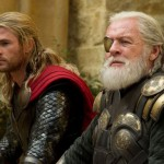 Chris Hemsworth and Anthony Hopkins in Thor: The Dark World