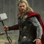 Thor wields the hammer (Mjolnir) a lot more in Thor: The Dark World