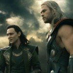 Tom Hiddleston as Loki and Chris Hemsworth as Thor in Thor: The Dark World