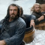 Dwarfs in barrels in The Hobbit: The Desolation of Smaug