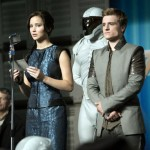 Actors Jennifer Lawrence and Josh Hutcherson in the movie The Hunger Games: Catching Fire