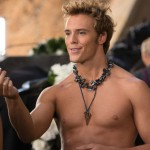Sam Claflin as Finnick in The Hunger Games: Catching Fire