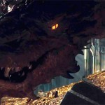 Smaug and Bilbo face off in The Hobbit: The Desolation of Smaug
