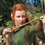 Evangeline Lilly as Tauriel in The Hobbit: The Desolation of Smaug