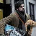 Oscar Isaac and the cat in Inside Llewyn Davis