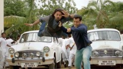 Salman Khan flinging the bad guys in Jai Ho