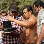 Salman on set in Jai Ho