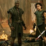 Adewale Akinnuoye-Abaje and Kit Harington in Pompeii