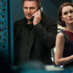 Liam Neeson and Michelle Dockery in Non-Stop