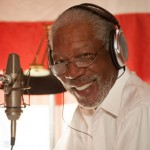 Morgan Freeman voices Vitruvius in The LEGO Movie