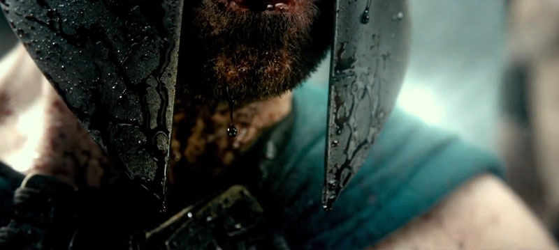 Blood dripping in slo-mo in 300: Rise of an Empire