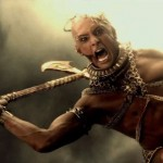 Xerxes beheads the dead in 300: Rise of an Empire