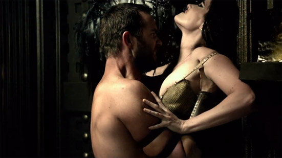 Sullivan Stapleton and Eva Green have a 'meeting' in 300: Rise of an Empire