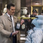 Ty Burrell and Sam Eagle in Muppets Most Wanted
